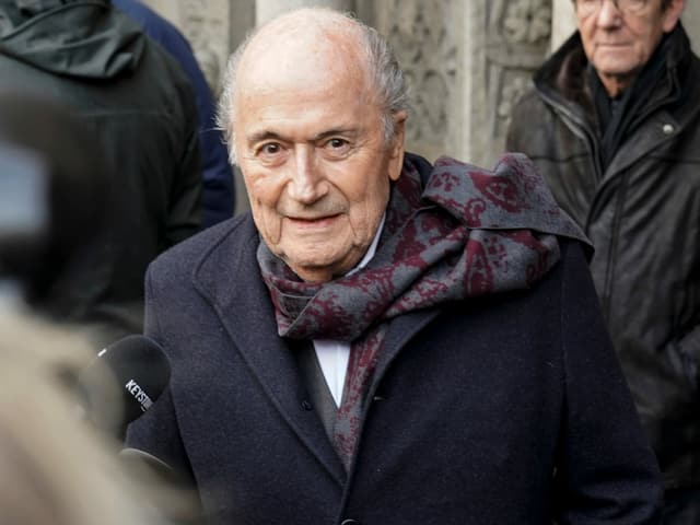 Sepp Blatter im Dezember 2019 in Zürich.