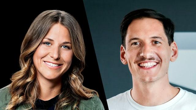 Die beiden neuen Moderationspersonen von Radio SRF 3 - Joana Mauch und Mathias Schenk