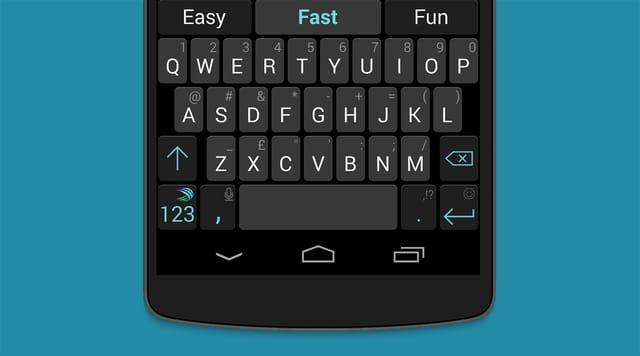 Screensho Smartphone mit Tastatur