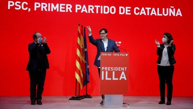 Die sozialistische PSC hat bei der Katalonien-Wahl am meisten Stimmen erhalten.