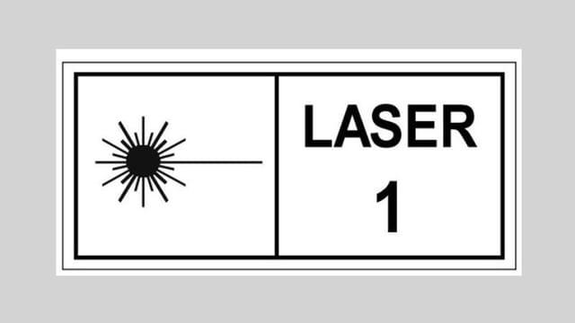 Symbol für Laserpointer Stärkeklasse 1