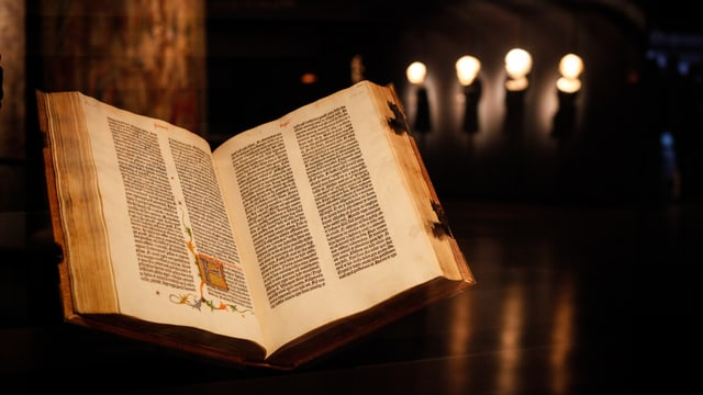 Die Gutenberg-Bibel in der Fondation Bodmer