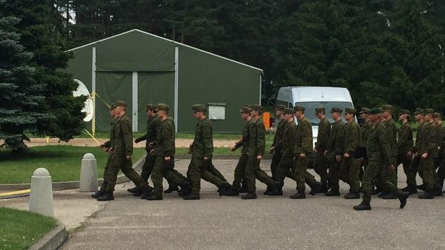 Litauische Soldaten.