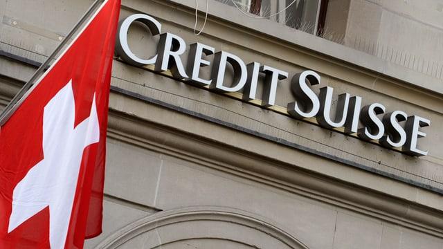 Fassada da la banca Credit Suisse.