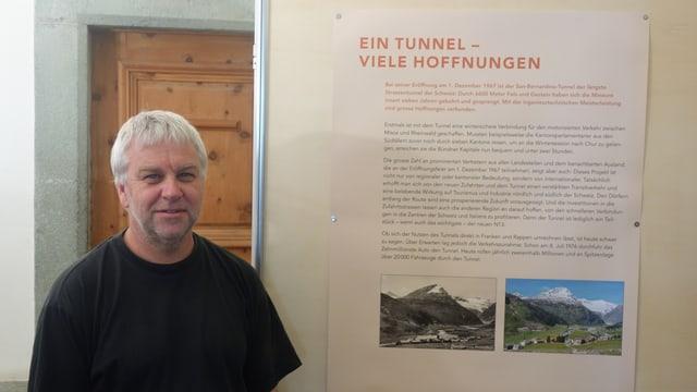 Reto Attenhofer, il manader dal museum da Spleia.