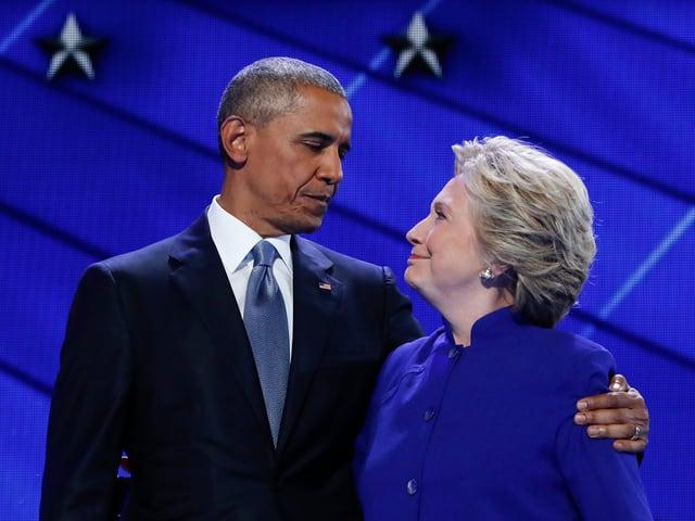 Barack Obama und Hillary Clinton