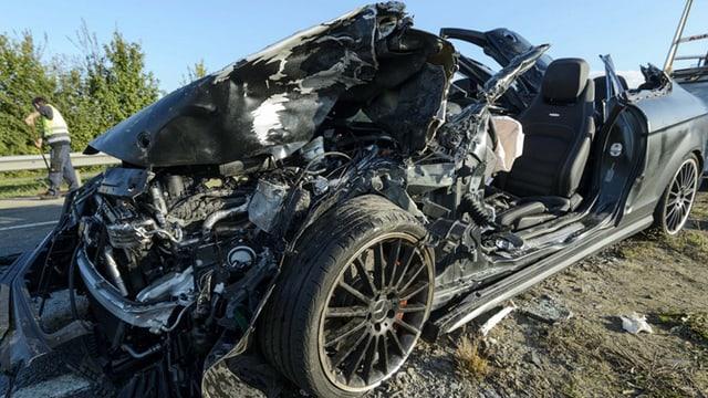 Vukcevics Wagen nach dem Unfall.