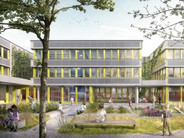 Visualisierung Schulhaus Thurgauerstrasse