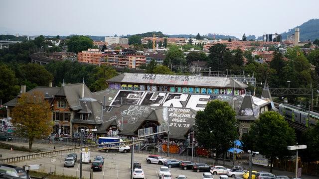 Luftaufnahme der Berner Reitschule.
