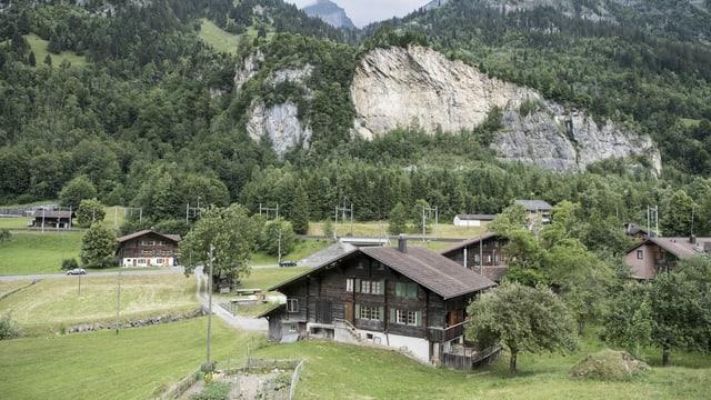 Häuser in Mitholz.