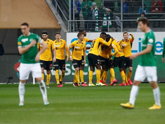 Szene aus der Partie St. Gallen gegen YB