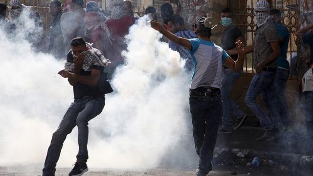 Er a Bethlehem hai dà confruntaziuns violentas tranter Palestinais e l'armada.