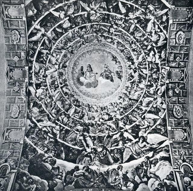 Frescas dal pictur milanais Carlo Nuvolone en la baselgia Son Martin a Savognin