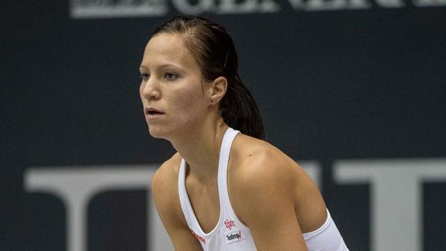Viktorija Golubic ist konzentriert.