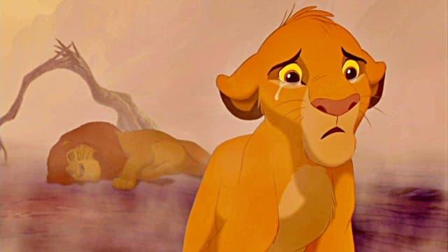 Mufasa starb 1994 den ersten Leinwand-Tod in der Disney-Geschichte. Sein Sohn Simba bleibt alleine zurück.