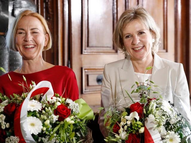 Brigit Wyss (rechts) mit Susanne Schaffner-Hess (SP)