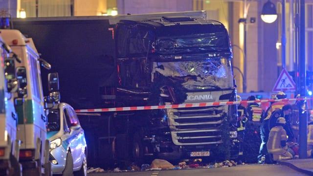 Zu sehen ist der Tatort des Berliner Attentats.
