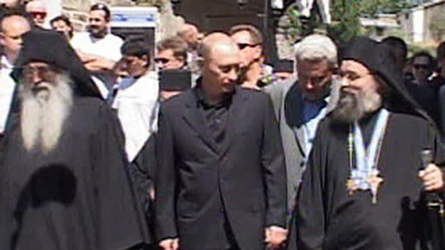 Wladimir Putin auf dem Berg Athos.