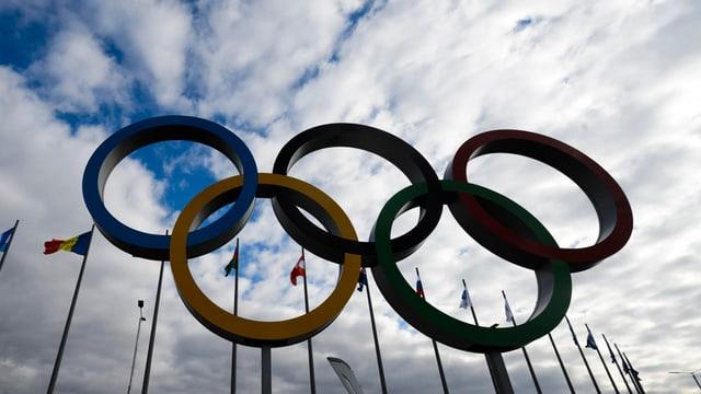 Il maletg mussa ils tschintg rintgs olimpics.