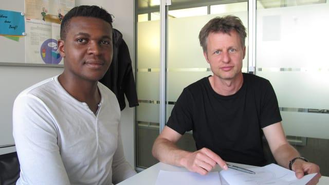 Miguel und sein Coach Andreas Munter
