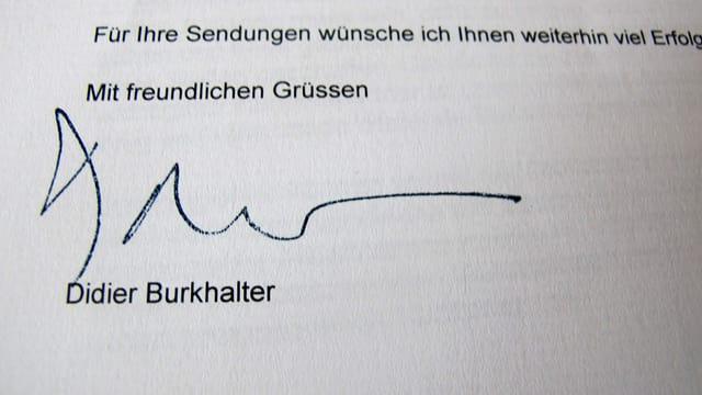 Unterschrift von Didier Burkhalter.