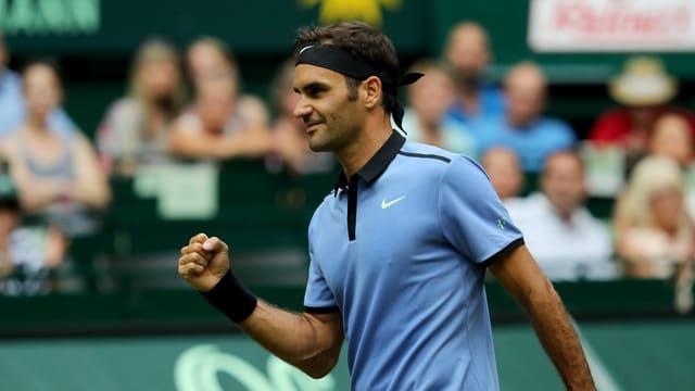 Roger Federer a Halle.