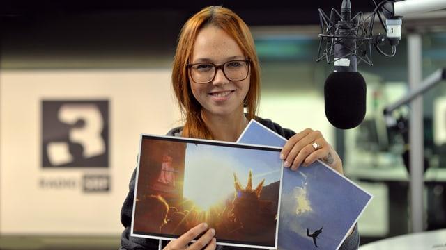 Stefanie Heinzmann gefallen diese zwei Fotos besonders.