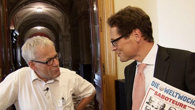 Kurt Fluri und Roger Köppel im Streitgespräch