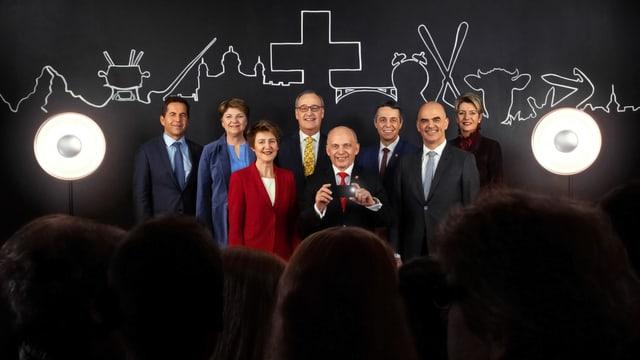 Der Bundesrat mit dem Bundeskanzler 2019