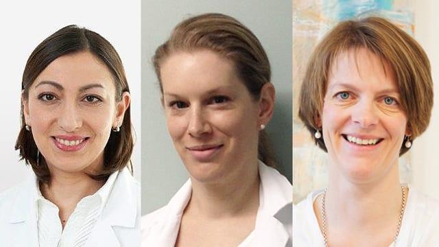 Porträtaufnahmen von Theresia Kirchgraber, Stephanie Riedmüller und Monja Schulz