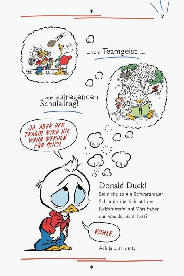 Abbildug aus einer Graphic Novel mit Donald Duck.