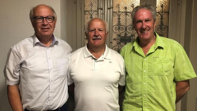 Thomas Burgener, Bernhard Fallert und Leo Eyholzer.