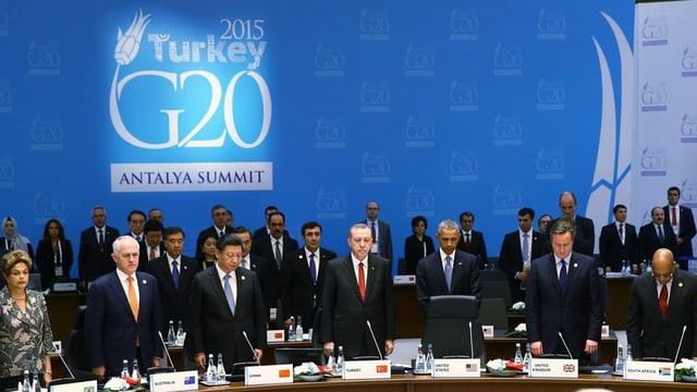 Minuta da silenzi durant l'inscunter dals G20 en Tirchia.