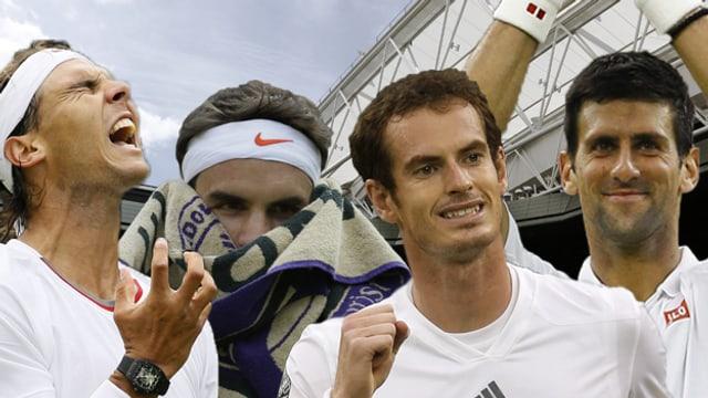 Von den grossen Vier sind nur noch Murray und Djokovic im Turnier dabei.