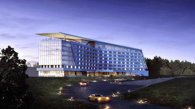 Visualisierung des Hotels.