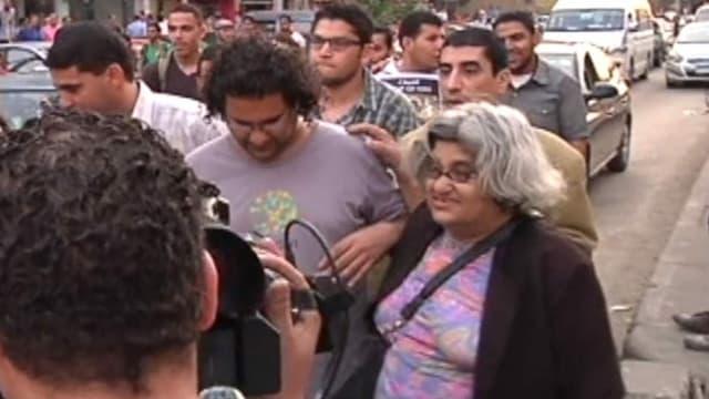 Alaa Abd el-Fatah und Laila Soueif
