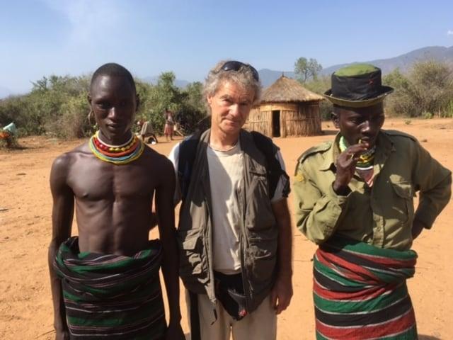Autor Hanspeter Bäni in Orwa, Kenia.