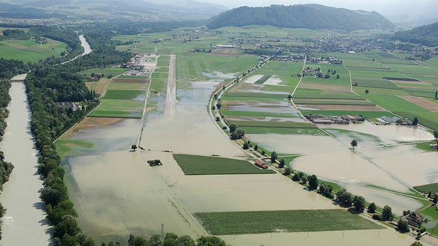 Eine überschwemmte Fläche.