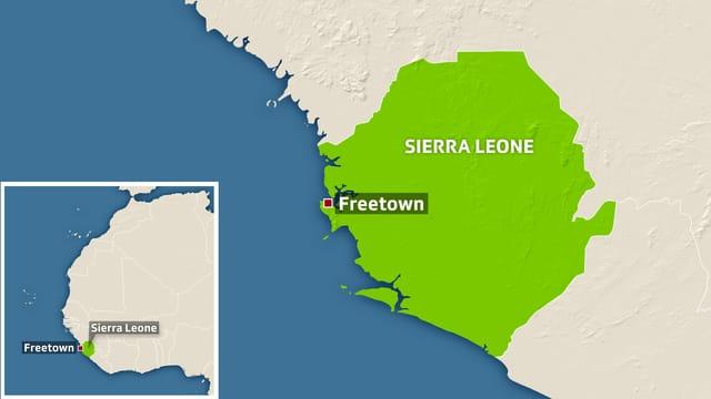 Karte von Sierra Leone