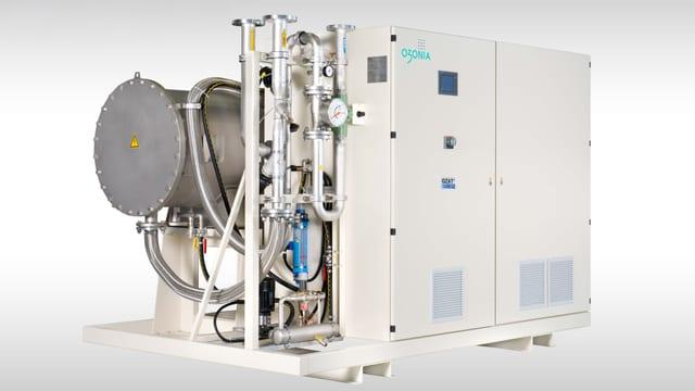 Der Ozongenerator erzeugt das notwendige Ozon aus Flüssigsauerstoff.
