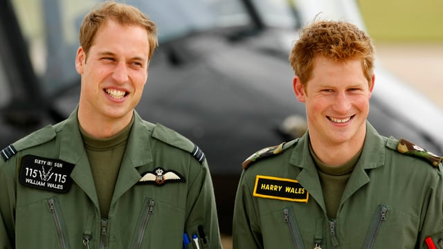 Prinz William (l.) und Prinz Harry