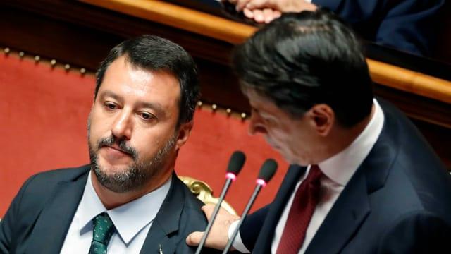 Zwei italienische Politiker.