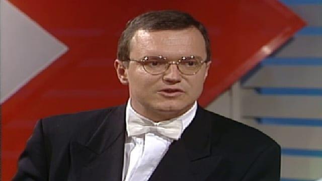 Rückblick: Claude Longchamp im Abstimmungsstudio am 17. Mai 1992.