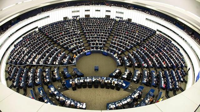 Aufnahme des Sitzungssaals des EU-Parlaments