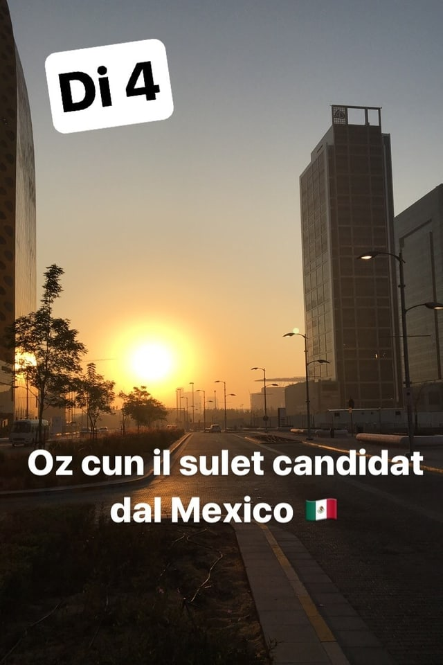 Oz discurrin nus cun il sulet candidat dal Mexico.