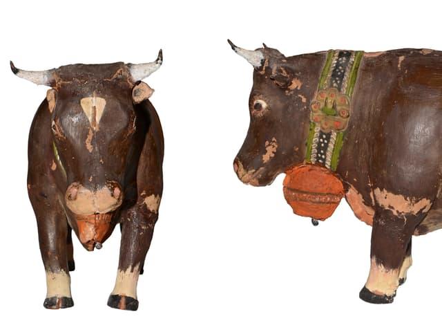 Keramik-Kuh von allen Seiten
