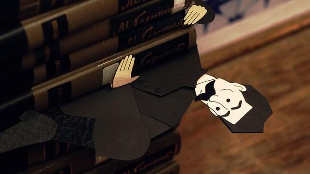 Trickfilmfigur von Maxim Gorki