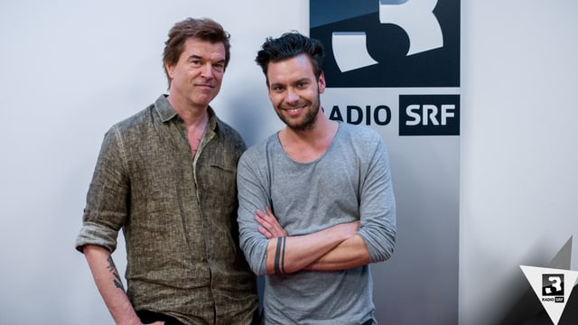 Campino mit SRF 3-Hitparadenmoderator Michel Birri