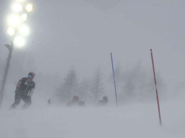 Schlechtes Wetter in Val d'Isère