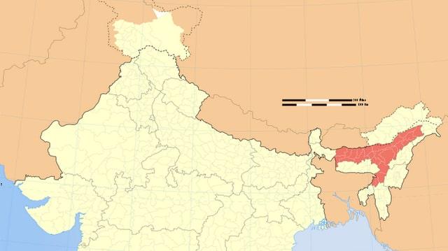 Indische Bundesstaat Assam